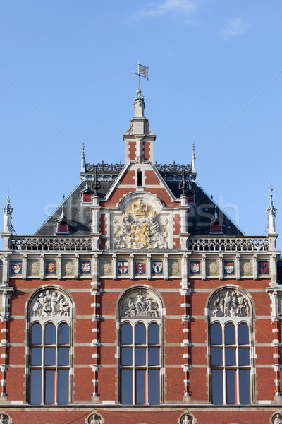 Amsterdam Central Station Architectural Details Stock photo © rognar