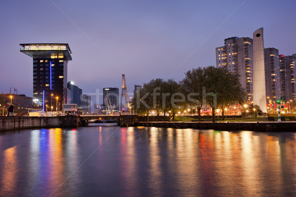 Stock photo: City Centre of Rotterdam at Night