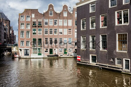 Canal Houses in the City of Amsterdam Stock photo © rognar