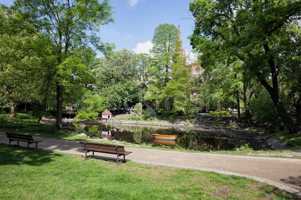 Park Kazimierza Wielkiego in Bydgoszcz Stock photo © rognar