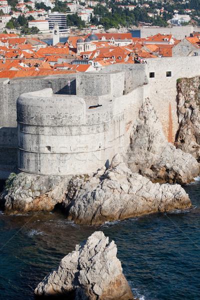 Дубровник город стены морем Хорватия строительство Сток-фото © rognar