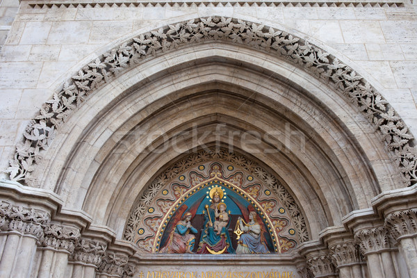 Madonna with Child on Matthias Church Tympanum Stock photo © rognar