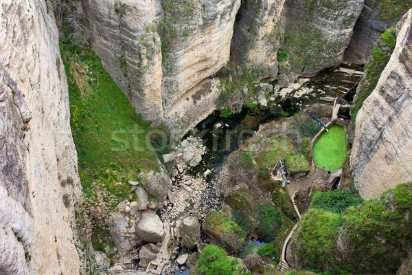 El Tayo River Gorge in Ronda Stock photo © rognar
