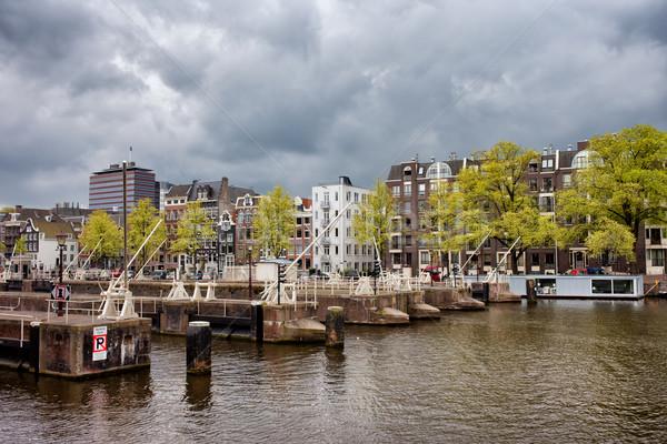 Stok fotoğraf: Amsterdam · ufuk · çizgisi · nehir · görmek · kuzey · Hollanda