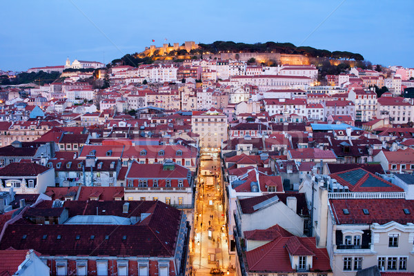 City of Lisbon at Dusk in Portugal Stock photo © rognar