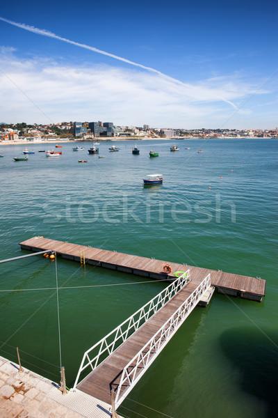 Pier on the Atlantic Ocean Bay in Cascais Stock photo © rognar