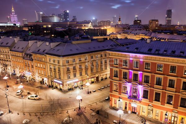 市 ワルシャワ ポーランド 1泊 古い アパート ストックフォト © rognar