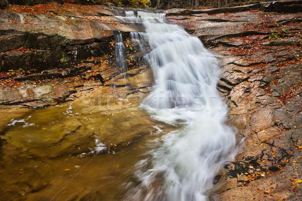 Najaar waterval stream reus bergen Tsjechische Republiek Stockfoto © rognar