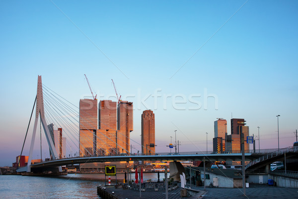 City of Rotterdam Downtown at Sunset Stock photo © rognar