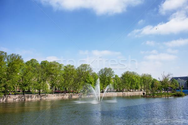 Hofvijver Pond in Den Haag Stock photo © rognar