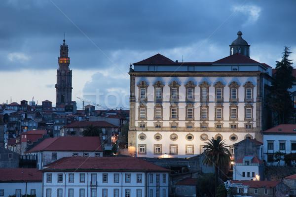 Episcopal Palace at Dusk in Porto Stock photo © rognar