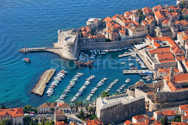 Barrio antiguo dubrovnik Croacia marina mar Foto stock © rognar