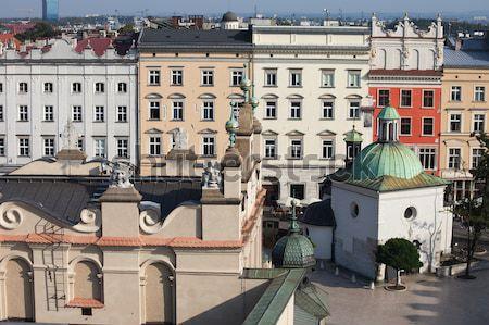 歴史的な建物 旧市街 クラクフ ポーランド 装飾的な 屋上 ストックフォト © rognar