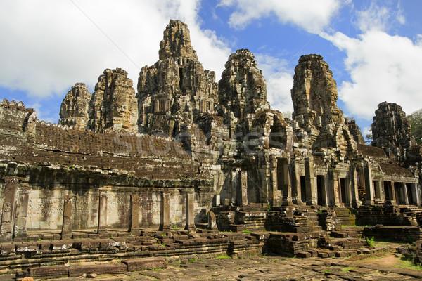 Templom építészet híres bent Angkor összetett Stock fotó © rognar