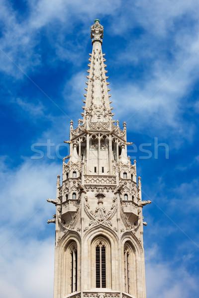 Matthias Church Bell Tower in Budapest Stock photo © rognar