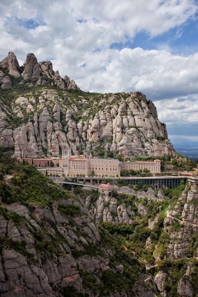 Montserrat Monastery and Mountains in Catalonia Stock photo © rognar