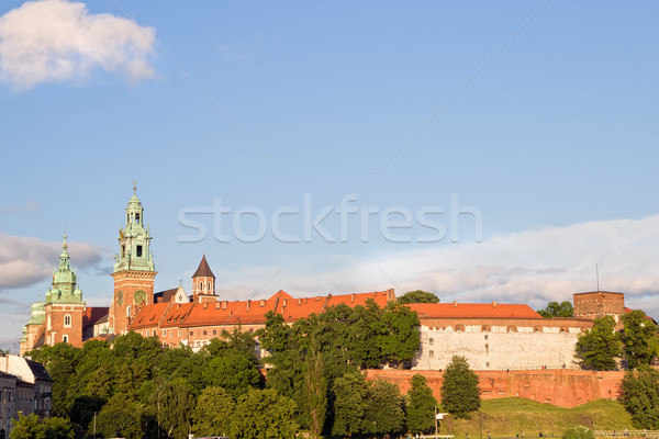Wawel Castle in Cracow Stock photo © rognar