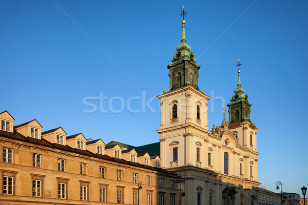 Церкви святой крест домах Варшава барокко Сток-фото © rognar
