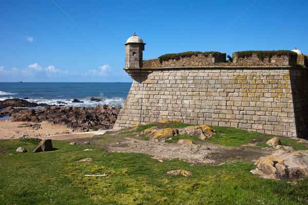Queijo Castle by the Atlantic Ocean in Porto Stock photo © rognar
