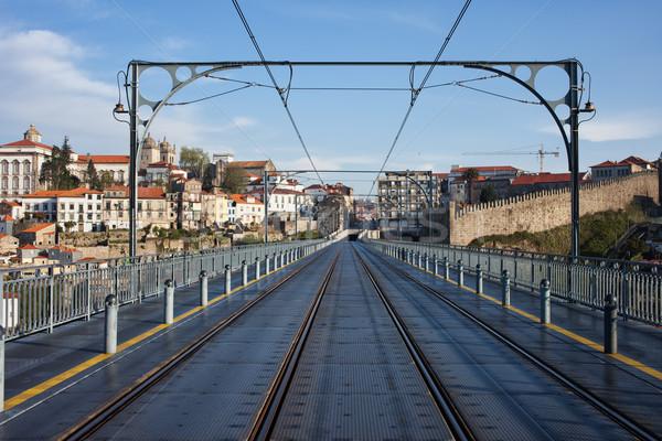 City of Porto from the Dom Luiz I Bridge Stock photo © rognar