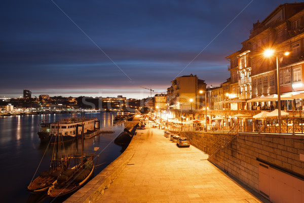 City of Porto by Night in Portugal Stock photo © rognar