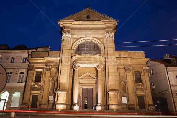 Saint Paul Conversion Church by Night in Krakow Stock photo © rognar