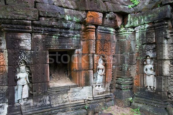 Templom romok épület művészet kő ázsiai Stock fotó © rognar