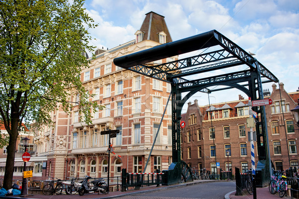 Staalstraat Bridge on Kloveniersburgwal Canal in Amsterdam Stock photo © rognar