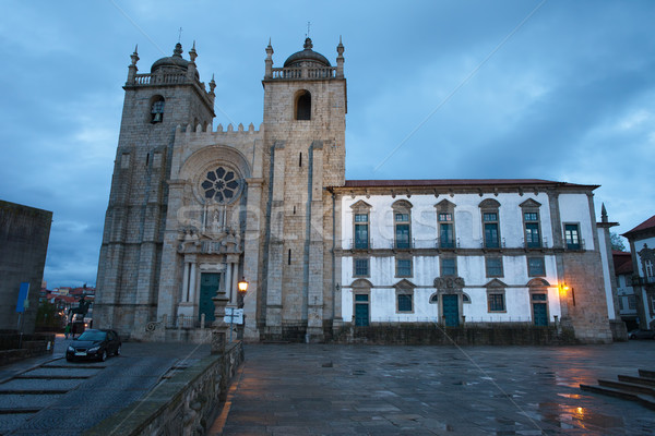 Porto Cathedral at Dusk in Portugal Stock photo © rognar