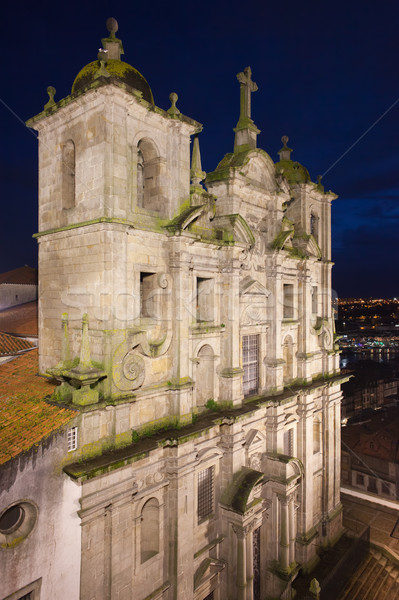 Church of Saint Lawrence by Night in Porto Stock photo © rognar