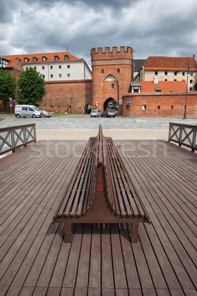 моста ворот старый город мнение реке пирс Сток-фото © rognar