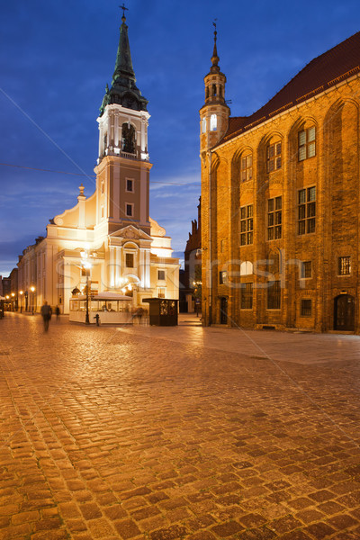 Old Market Square at Night in Torun Stock photo © rognar