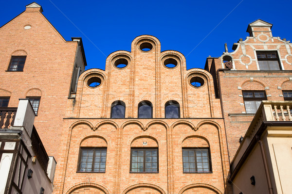 Case danzica interessante design città vecchia Foto d'archivio © rognar