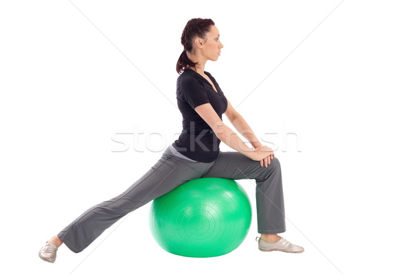 Stock photo: Gym Ball Stretching Exercise