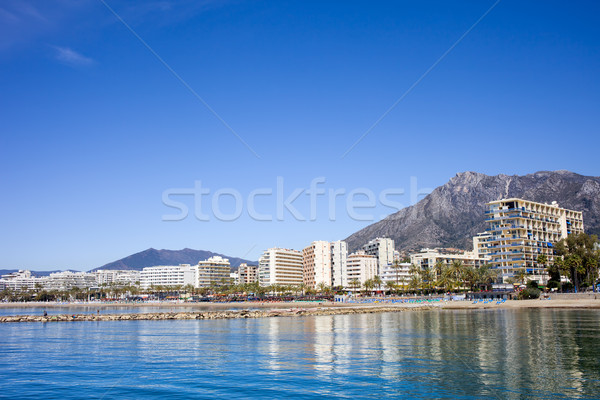 City of Marbella by the Mediterranean Sea in Spain Stock photo © rognar