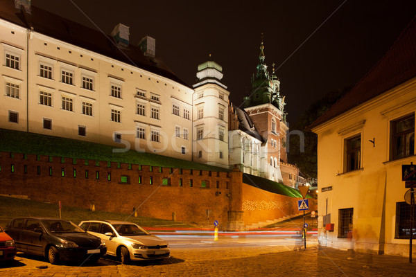 Királyi kastély éjszaka Krakkó Lengyelország észak Stock fotó © rognar