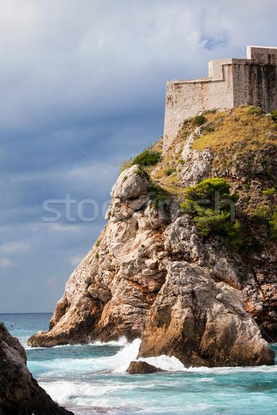 Fort hoog klif dubrovnik Kroatië zuiden Stockfoto © rognar
