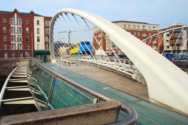 橋 ダブリン アイルランド 都市 川 アーキテクチャ ストックフォト © rognar