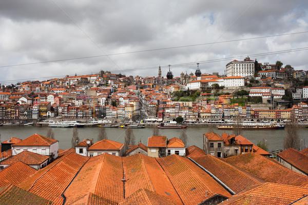 Stockfoto: Stad · Portugal · wijn · daken · historisch