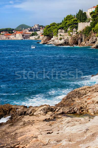 Mer Croatie dubrovnik loin Photo stock © rognar