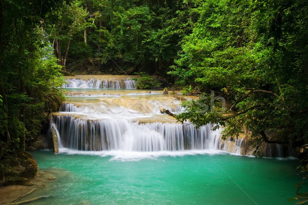 Waterfall in Tropical Forest Stock photo © rognar