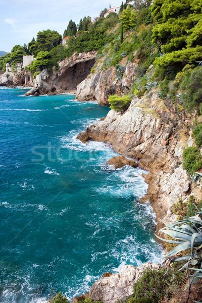Adriatic Sea Coastline in Croatia Stock photo © rognar