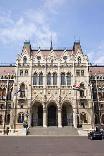 Entrance to the Parliament in Budapest Stock photo © rognar