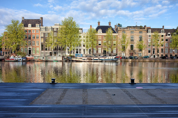 Amstel River in the City of Amsterdam Stock photo © rognar