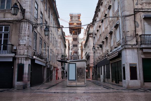 Santa Justa Lift in Lisbon Stock photo © rognar
