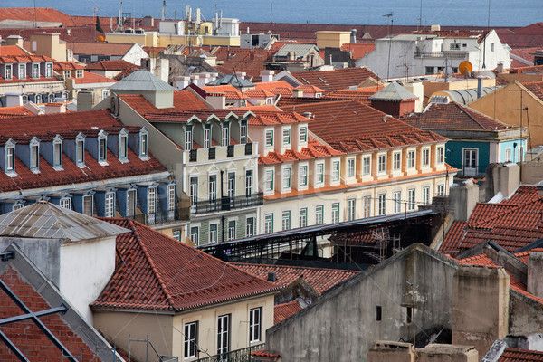 Rooftops of Lisbon in Portugal. Stock photo © rognar
