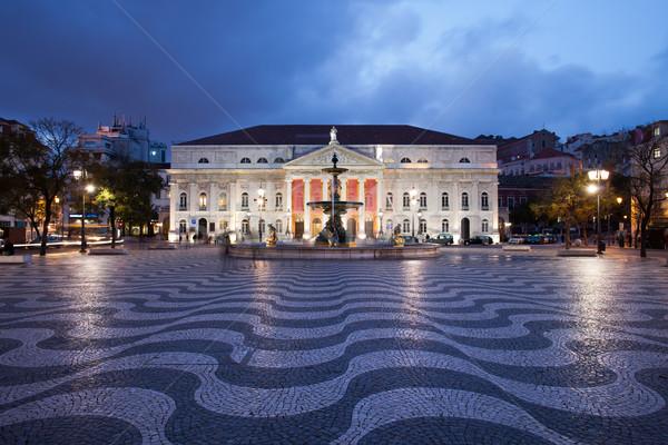 広場 1泊 リスボン 劇場 ポルトガル 劇場 ストックフォト © rognar
