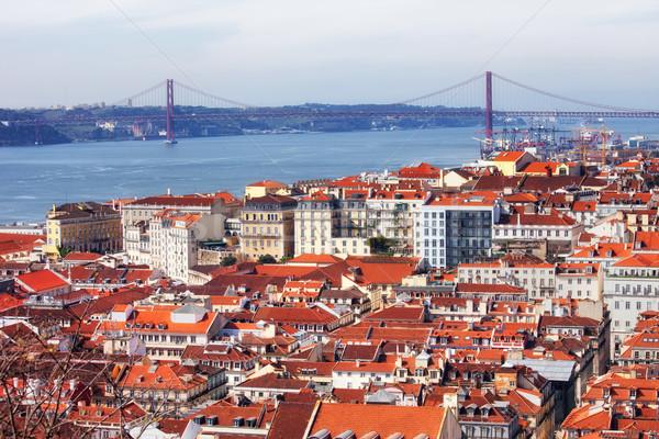 表示 市 リスボン ポルトガル 川 25 ストックフォト © rognar