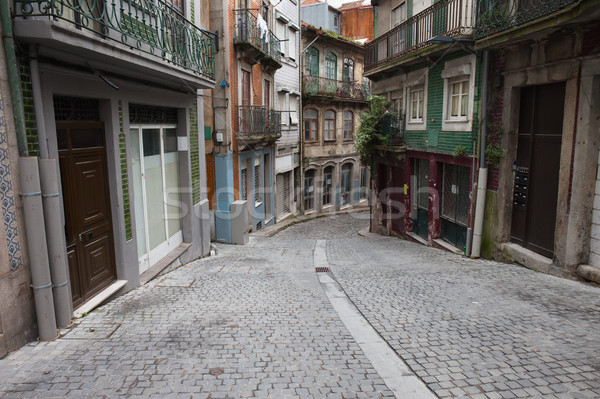Street and Houses in Old Town of Porto Stock photo © rognar