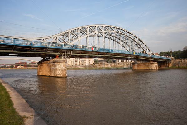 Híd folyó Krakkó Lengyelország víz város Stock fotó © rognar